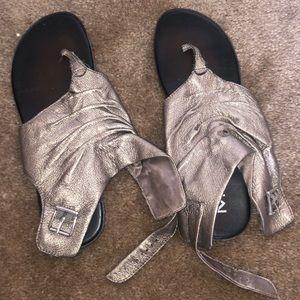 Womens MIA Silver / Gray Sandals- Size 8